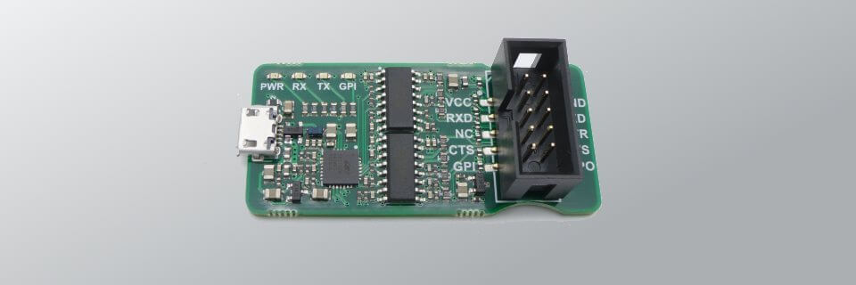 The muArt UART adapter board